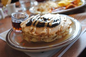 Peanut Butter Pancakes by Samareck-Photo