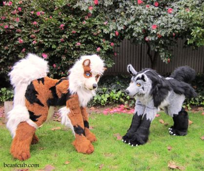 Mightyena and Arcanine - Quadsuit Cosplay by LilleahWest
