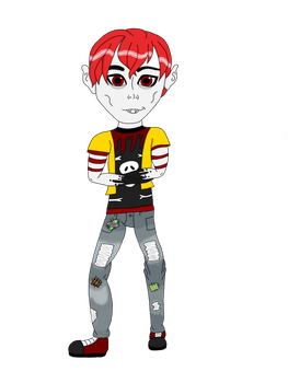 Grey Mort 2018- Monster High OC by CutieFrooti