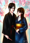 Commission Zara and Sebastian in kimonos by PuniNeko-Chan