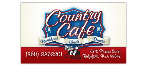 Country Cafe Business Card by MissArcherAndi