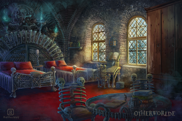 Bone dormitory room by MalthusWolf