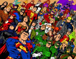 DC Comics Ink and Color by XinMyForehead