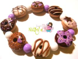 Lavender n chocolate donuts by colourful-blossom