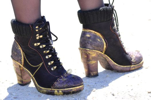 Steampunk Shoes Remastered by o0Christina0o