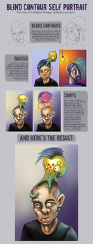 Process of a Self Portrait by slydevil