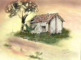 Abandoned House-color by shirishart