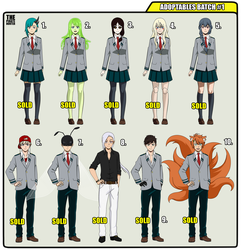 [CLOSED] Adoptables Batch #1 BnHA by ThePirateHunter