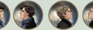 Kissing Buttons - BBC Sherlock by oneoftwo