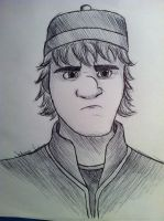 Kristoff Pen Drawing by JasminSC