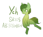 Sitting pony YCH OPEN AUCTION by IvyRedmond