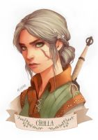 Ciri (book version) by Moon-In-Milk