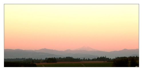 A Sunset and a Mountain by KevinStephens