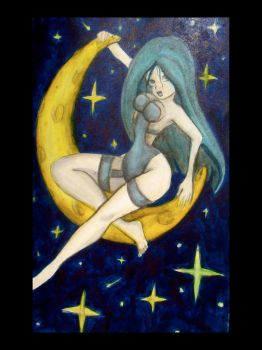 Girl in the Moon by Alexis-Paige