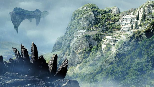 Matte painting practice by Dreagon-emperor