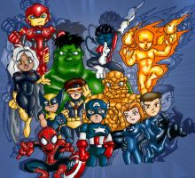 Marvel Group by 3niteam
