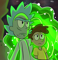 Rick and Morty by Toxikku