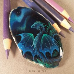 Crystal dragon of northern lights by AlviaAlcedo