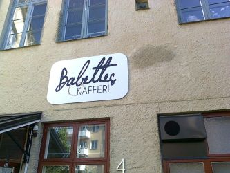 Babettes Kafferi, Linkoping, Sweden by lennarrrt