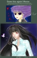 Before and After Meme - Annette by bluefaie