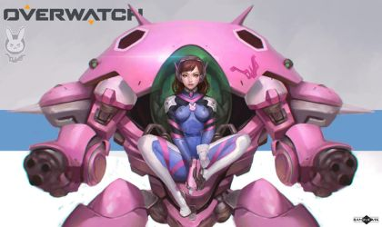 Overwatch - Love, D.va!   fanart by BanjiuEvik