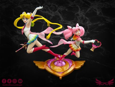 [Commission] SS Moon and Chibi Moon Garage Kit by ImHisEternalAngel