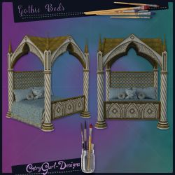 Gothic Beds by CntryGurl-Designs
