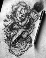 Pennywise Fanart by BlackEwolvie