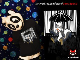 Bar Code Skunk (T-Shirt) by pandapaco