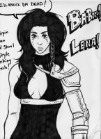Lena and inking practice by KingofLions