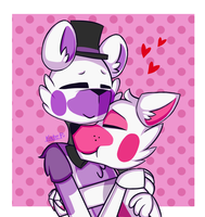 cuddles (funtime freddy x funtime foxy) by kate-painter