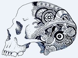 Psychedelic skull by 1998foxpad