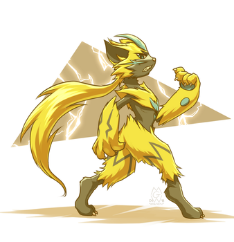 Zeraora by MykeGreywolf