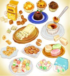 Assorted Cake and sweet model set MMD DOWNLOAD by Hack-Girl