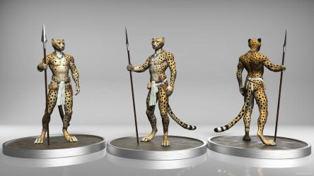 Tribal Cheetah Sculpt by TitusWeiss