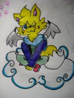 Spike The Cloud Cat by Kyrifian