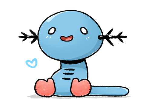 Wooper Mittens by LexisSketches