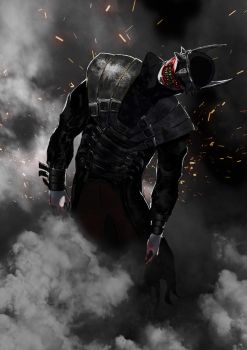 The Batman Who Laughs from Batman Metal by OhAlAmin