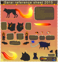 Sarai reference sheet by Minteen