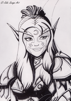 Tyrande by Fires-storm