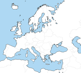 Blank Europe map by Neethis