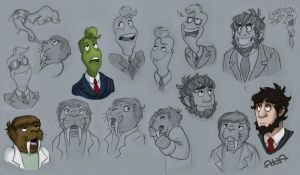 Hat Films sketches by RatherPeculiar