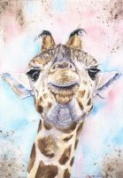 Giraffe Baby by GeorgeArt23
