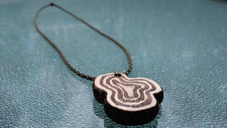 Wooden Necklace by JigglyRitz