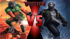 Doomguy vs Jason Voorhees by Dynamo1212
