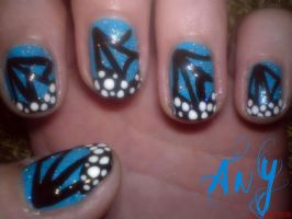 Butterfly Nail Design by AnyRainbow