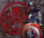 Captain America Armor with added background by jronk13