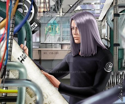 Trunks writing hope on the time machine by ThelastA