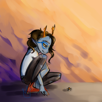 wow look another vriska by PoisonousSilverQueen