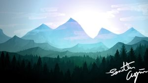 Flat Landscape Wallpaper 1 by RahasQc